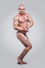 Muscled male torso in studio