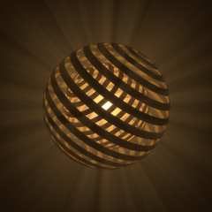 Abstract sphere with rays
