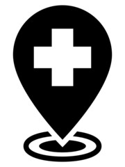 Hospital map pointer icon