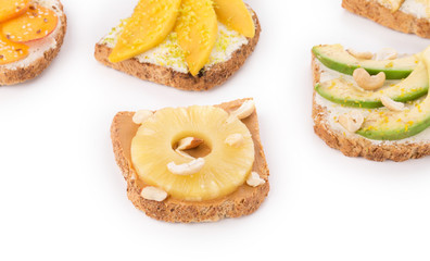 healthy fruit sandwiches