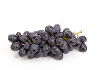 black ripe grapes