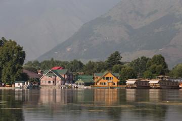 House boats in lake Kashmir, India