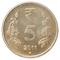 Indian rupees coin