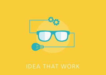 idea that work concept flat icon