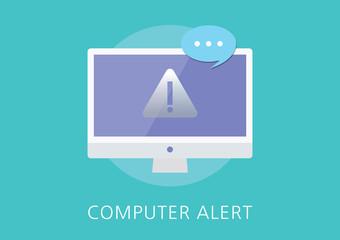 computer alert concept flat icon