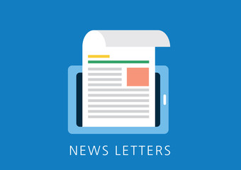 news letters concept flat icon
