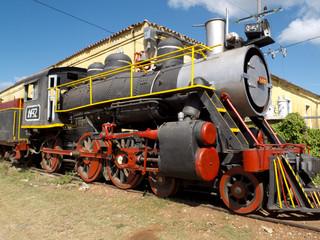 Vieille locomotive à vapeur à Trinidad, Cuba.