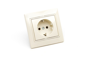 Sockets on the white background