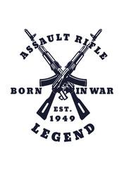 born in war emblem vector illustration, eps10, easy to edit