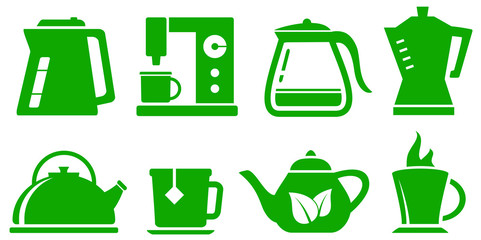 green icons kettle set