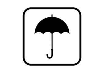 Umbrella vector icon on white background