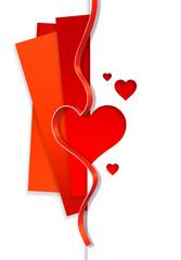 coeur papier et ruban
