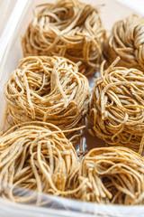 Tajarin pasta from Piedmont region of Italy.