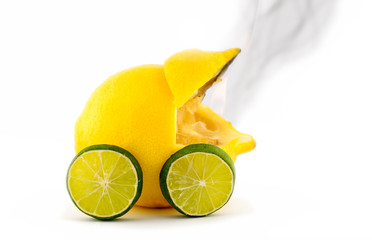 Burned out Lemon Car
