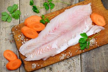 Gemüse Fischfilet