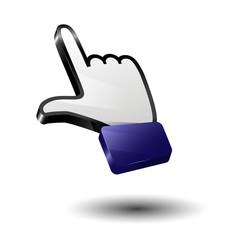 Finger icon arrow