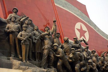 Mansudae Monument, Pyongyang, North-Korea