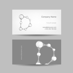 Business card design with letter D