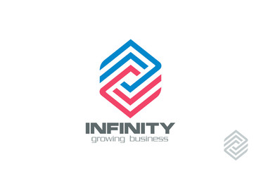 Logo Design abstract infinity loop Financial Business