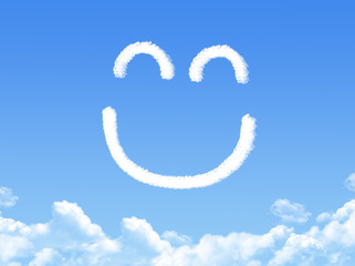 Smilie from cloud in the blue sky