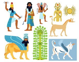 Ancient Babylonian gods, creatures and symbols