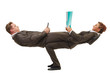 Business people posing in difficult acrobatic pose