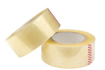 Two rolls of adhesive tape.