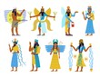 canvas print picture - A set of ancient Babylonian gods and goddesses