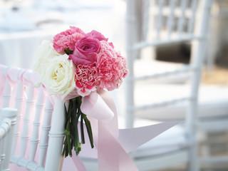 Wedding bouquet in wedding day vintage color tone