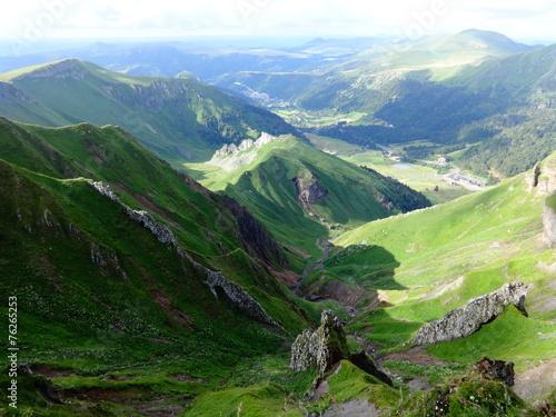 Tuinposter Vulkaan vue d'Auvergne