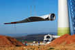 Leinwanddruck Bild - Windmill construction site