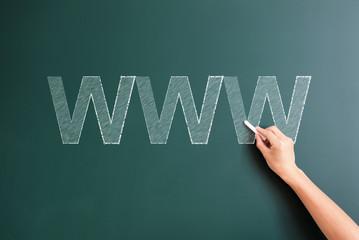 writing www on blackboard