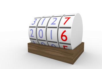Kalender, 2016, 2015, rund