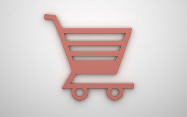3d icon of shopping chart