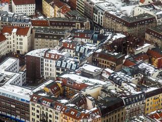 Berlin, Germany. City landscape. Bird's-eye view in the winter