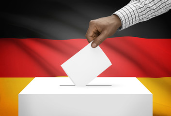Ballot box with national flag on background - Germany