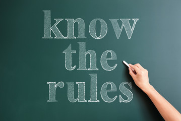 writing know the rules on blackboard