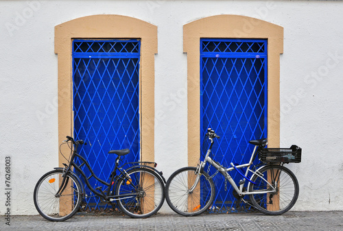 Staande foto Fiets Bikes at the house