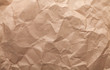 canvas print picture - Rumpled brown cardboard paper
