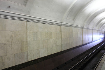 Interior of subway station
