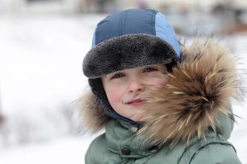 Kid in winter park