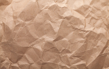 Rumpled brown cardboard paper
