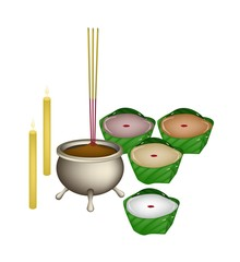 Chinese Pudding or Nian for New Year Worship