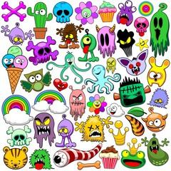 Doodles Cute Icons Set