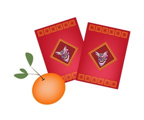 Red Envelopes and Orange for Chinese New Year