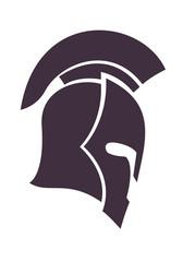 spartan helmet in profile vector illustration, eps10