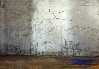 disegno su parete