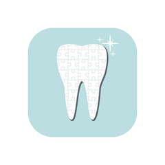 Tooth icon. Vector illustration.