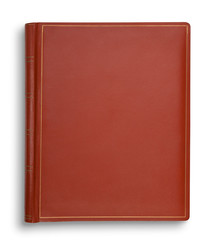 Brown hardcover book