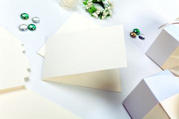Blank wedding invitation